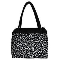 Большая женская сумка Сатчел Леопардовый принт