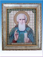 Икона Св. Преподобный Сергий Радонежский( из бисера)