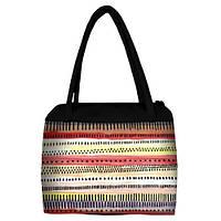 Большая женская сумка Сатчел с орнаментом