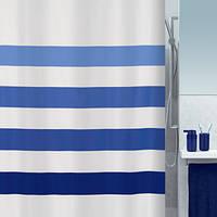 Шторка для ванной текстильная Spirella FOUR 180х200, синяя