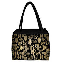 Большая женская сумка Сатчел с принтом Кактусы