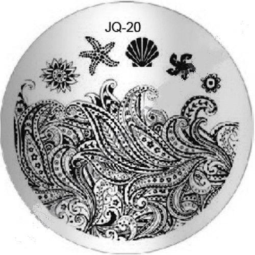 Пластина для стемпинга круглая JQ-20