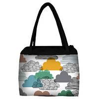 Женская сумка Сатчел с принтом Облака