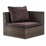 Угловой элемент дивана плетеного Lagoon из искусственного ротанга под натуральный 90x90x68 см