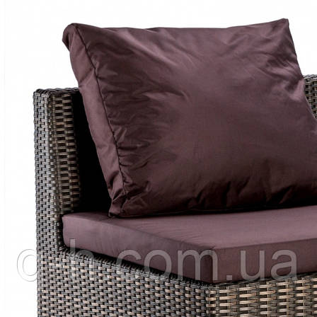Угловой элемент дивана плетеного Lagoon из искусственного ротанга под натуральный, фото 2