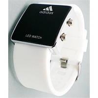 Часы спортивные adidas led watch (белый ремешок)