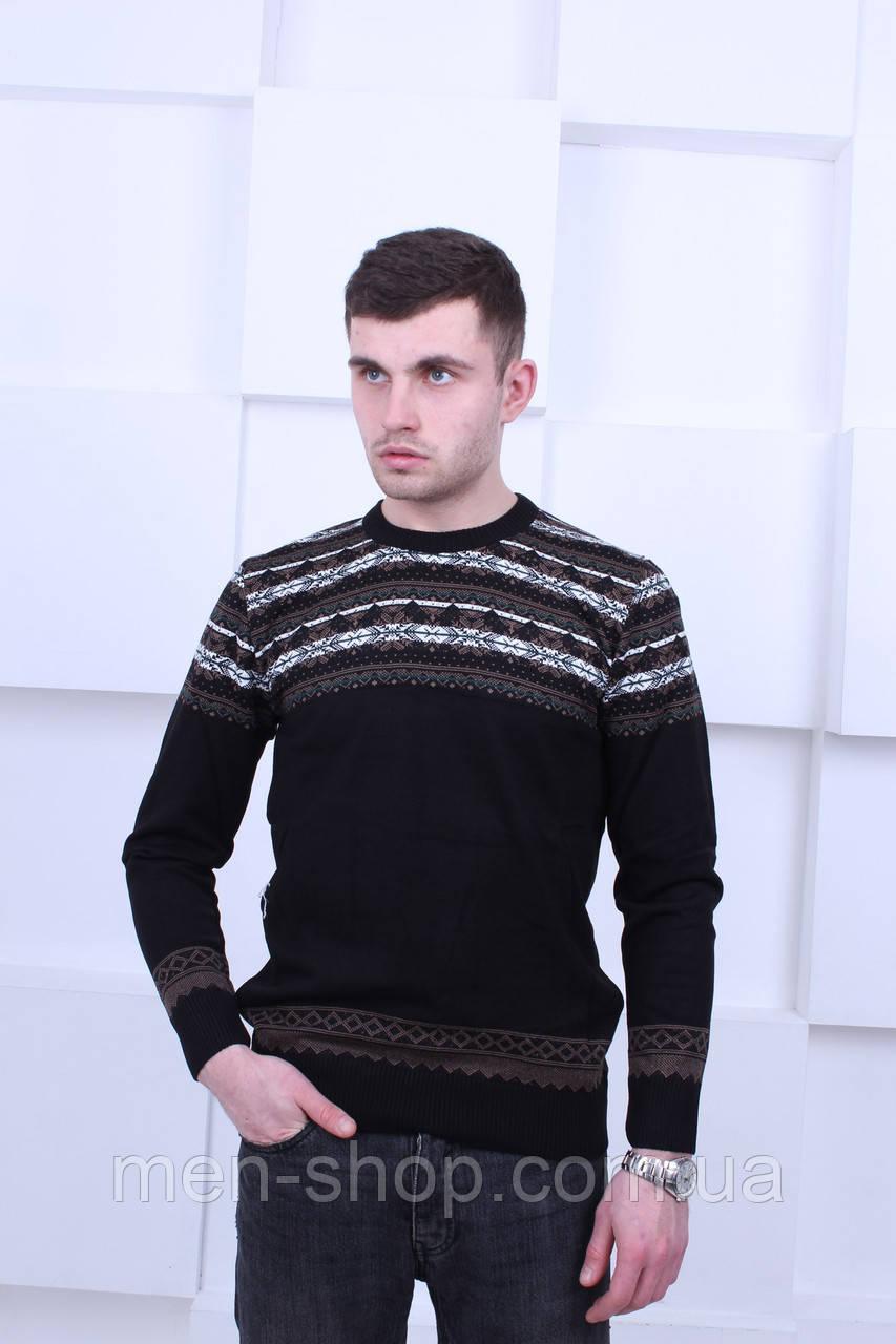 Черный Турецкий свитер с узором