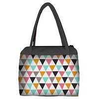 Женская сумка Сатчел с принтом Цветная геометрия