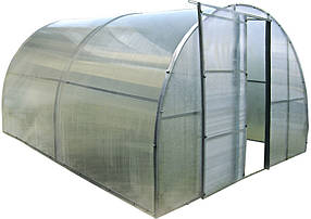 Каркасная теплица Click Green House под поликарбонат 4м двери+окна (Time Eco TM)