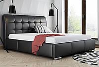 Кровать кожаная с подъемным механизмом