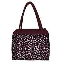 Женская сумка Сатчел с принтом Леопард марсала