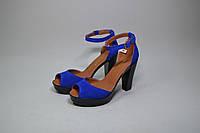 Женские босоножки на каблуке с натуральной замши размеры 36-40