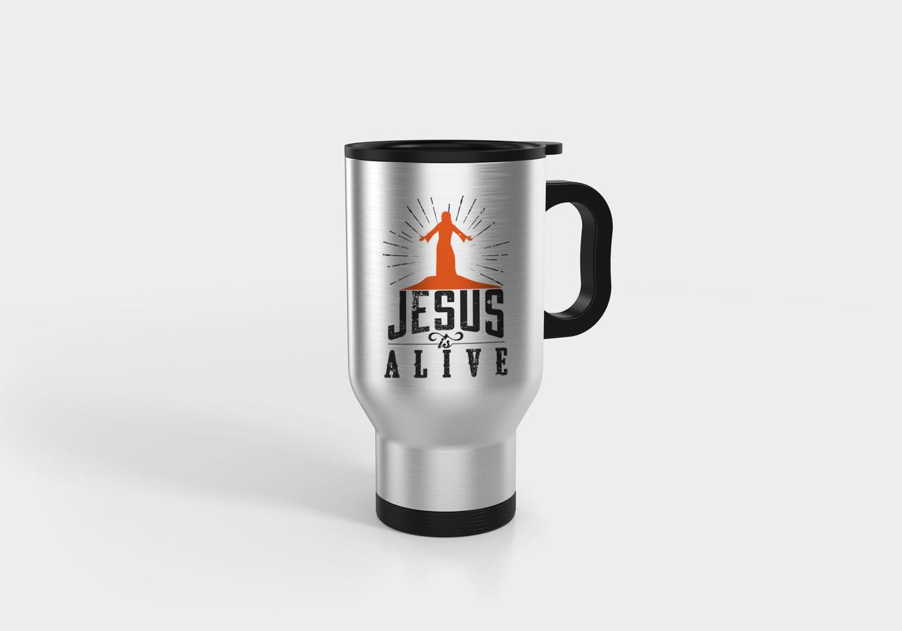 """Термокружка №14 """" Jesus is alive"""""""