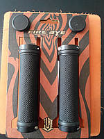 Ручки руля FireEye Goosebumps-R 130 мм с замками черный