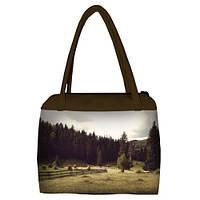 Женская сумка Сатчел с принтом В лесу