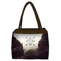 Женская сумка Сатчел с принтом Путешествуй