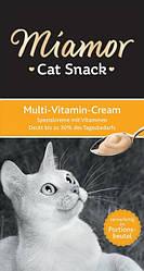 Miamor Malt-Cream (Миамор) жидкое лакомство для кошек, мультивитаминный комплекс, 15 гр (в уп.6шт)