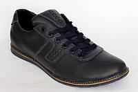 Стильные  демисезонные мужские  кроссовки Roma-Ecco синего цвета