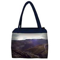 Женская сумка Сатчел с принтом Путешествуй в горы