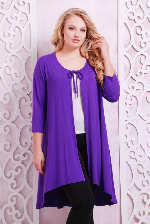 Кардиган на завязках АДЕНА фиолетовый