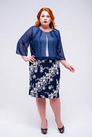 Женское нарядное платье с шифоном, фото 1