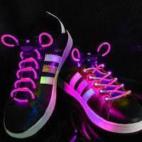 Светящиеся шнурки (СИРЕНЕВЫЕ led светодиодные)