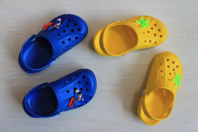 Детские кроксы синие style-baby.com
