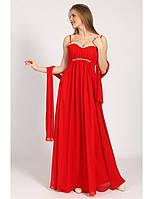 Красивое вечернее платье в пол с мягким лифом