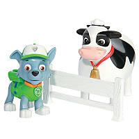 Набор из щенка-спасателя и животного: Рокки и Корова