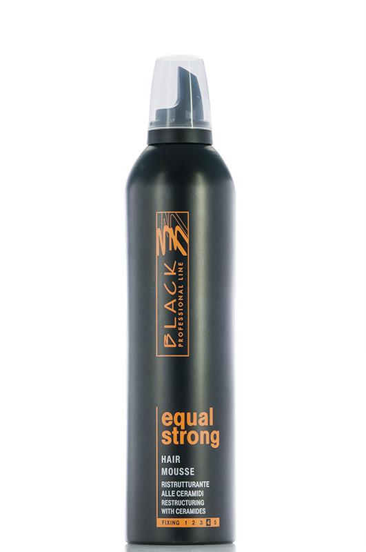 Black Мусс Cильной фиксации Восстананавливающий для волос 400 мл Код 3738