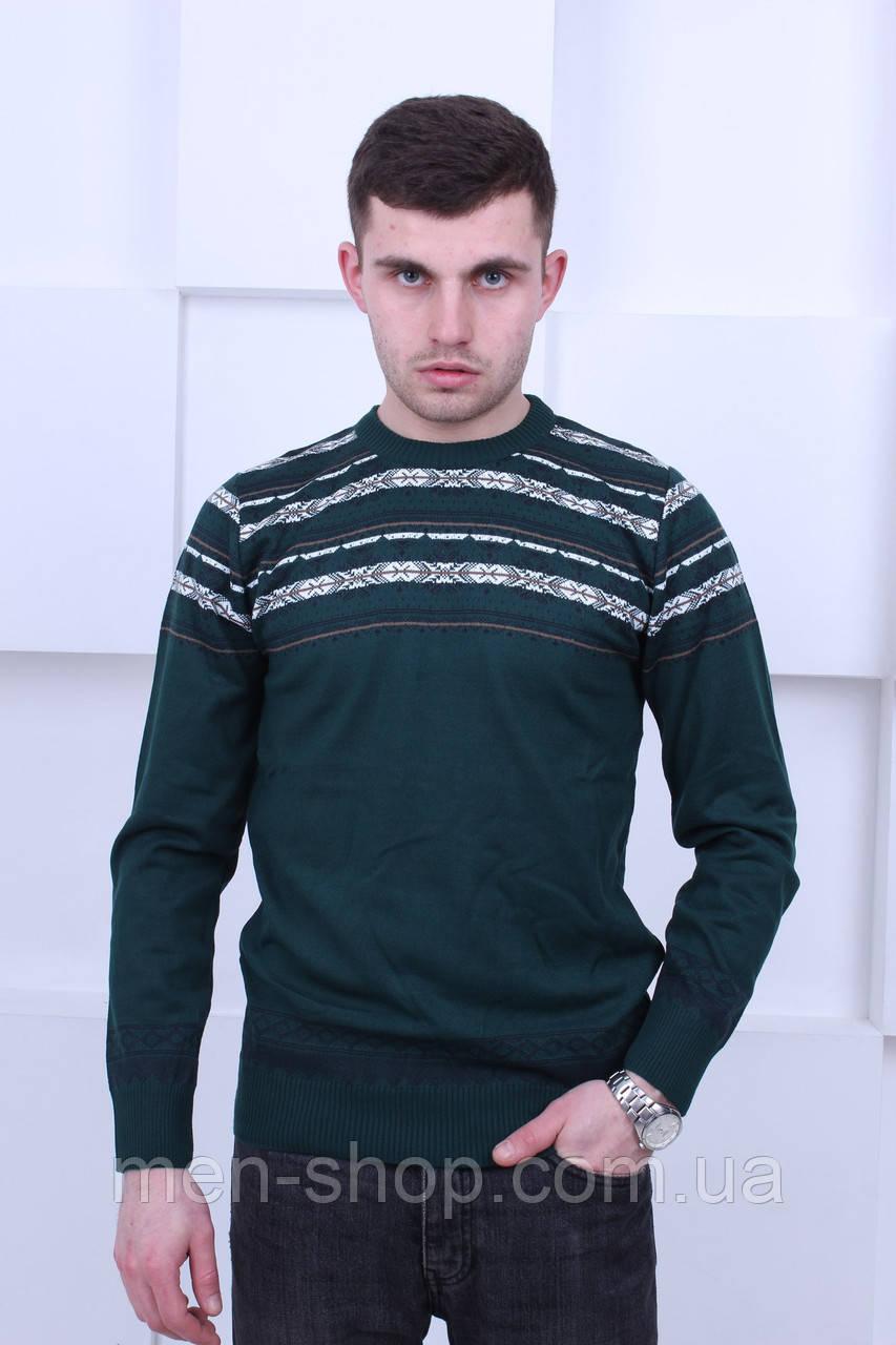 Модный зеленый мужской свитер Турция