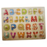 Деревянная доска Сегена для детей, рамки вкладыши, англ. алфавит 1