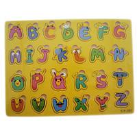 Деревянная доска Сегена для детей, рамки вкладыши, англ. алфавит 3