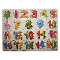 Деревянная доска Сегена для детей, рамки вкладыши, цифры 1