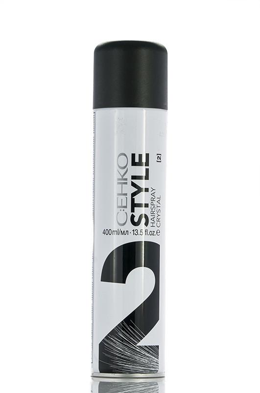 "C:EHKO Style Hairspray 2 Crystal  Лак для волос ""Кристалл"" c экстрактом личи 400 мл Код 17783"