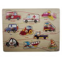 Деревянная доска Сегена для детей, рамки вкладыши, транспорт 1