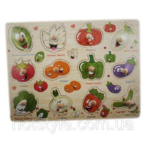 Деревянная доска Сегена для детей, рамки вкладыши, овощи