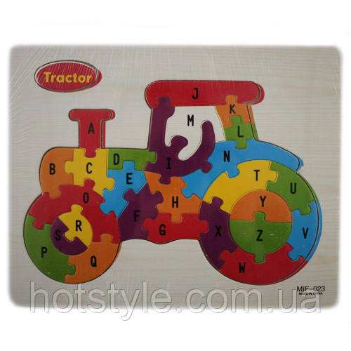 Деревянная доска/пазлы для детей, рамки вкладыши, пазл, трактор