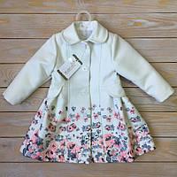 Весеннее пальто из кашемира на девочку Рост 80-110 см