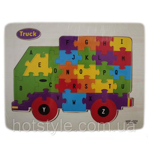 Деревянная доска/пазлы для детей, рамки вкладыши, пазл, грузовик