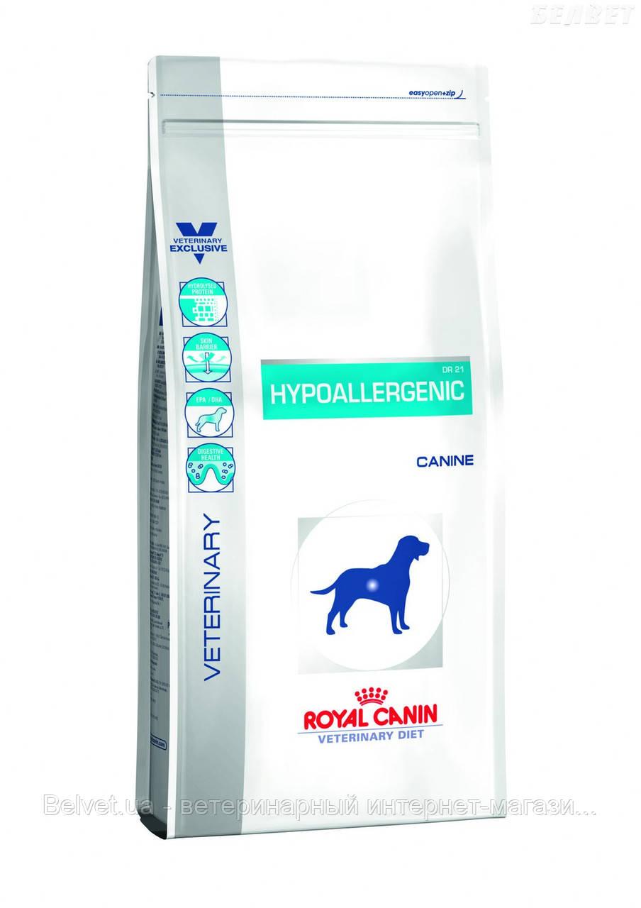 Royal Canin Hypoalergenic диета для собак с пищевой аллергией или непереносимостью 2 кг