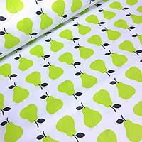 Ткани для домашнего текстиля груши салатового цвета  №587
