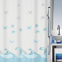 Шторка для ванной текстильная Spirella CRANE 180х200
