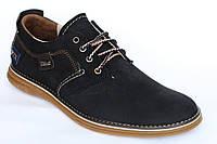 Замшевые   демисезонные мужские  кроссовки Vitex синего цвета