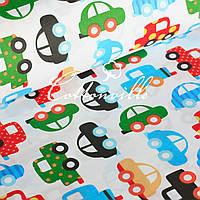 Хлопковая ткань Игрушечные машинки