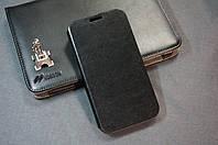 Чехол книжка Samsung I9500 S4  цвет черный