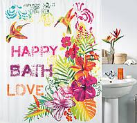 Шторка для ванной текстильная Spirella FORMENTERA 180х200