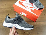 Кроссовки мужские Nike Air Presto Fleece 30212 темно-серые, фото 4