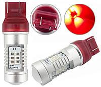Светодиодные лампы LED/линза W21/5W (21-SMD)(12V)(3535)(Красный), фото 1