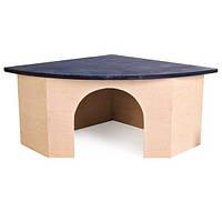 Дом Trixie Corner House для грызунов угловой, 21х29х13 см